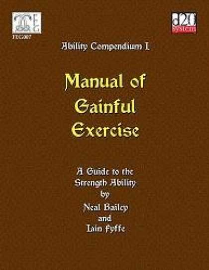 Role Playing Games - Ability Compendium: Manual of Gainful Exercise