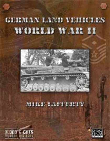 Role Playing Games - Blood and Guts 2: German Land Vehicles of WWII