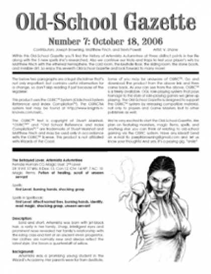Role Playing Games - Old-School Gazette #7