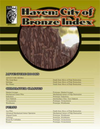 Role Playing Games - Haven: City of Bronze Index