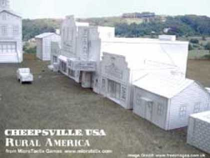 Role Playing Games - Cheepsville USA Rural America Residential cardstock buildings