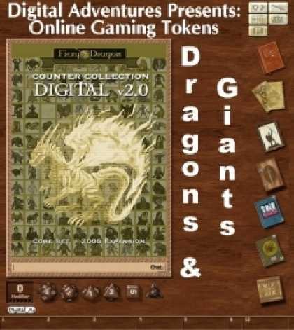 Role Playing Games - Online Gaming Tokens Pack #5: Dragons & Giants