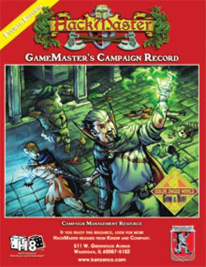 Role Playing Games - GameMaster's Campaign Recordbook