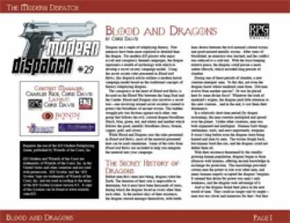 Role Playing Games - Modern Dispatch (#39): Blood and Dragons