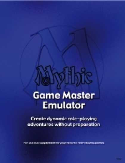 Role Playing Games - Mythic Game Master Emulator