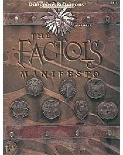 Role Playing Games - The Factol's Manifesto