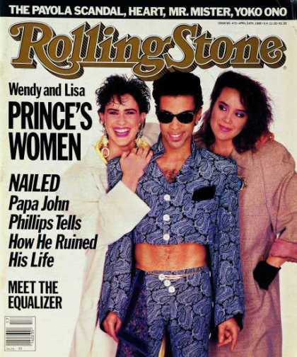 Rolling Stone - Prince with Lisa & Wendy