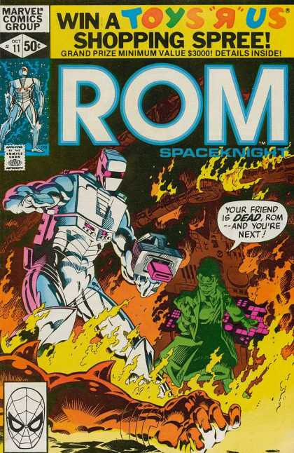 ROM Spaceknight 11 - Marvel - Robot - Flame - Gun - Shopping Spree