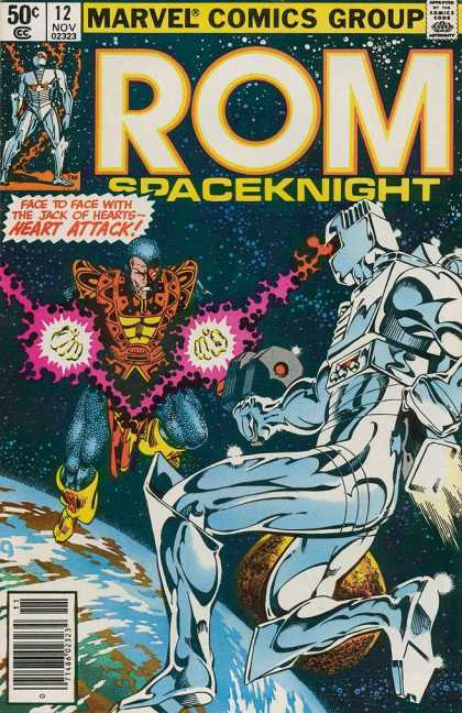 ROM Spaceknight 12 - Approved By The Comics Code - Marvel Comics Group - Superhero - Space - Planet
