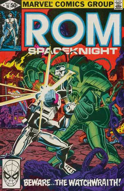 ROM Spaceknight 16 - Marvel - Battle - Robot - Costume - Fire