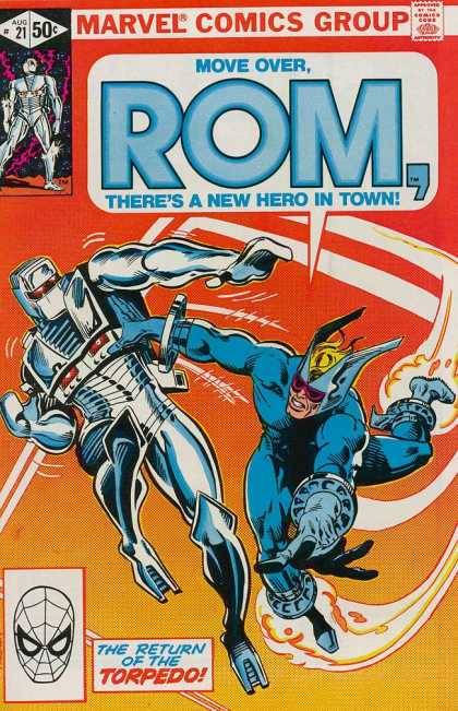 ROM Spaceknight 21 - Marvel - Battle - Costume - Robot - Torpedo