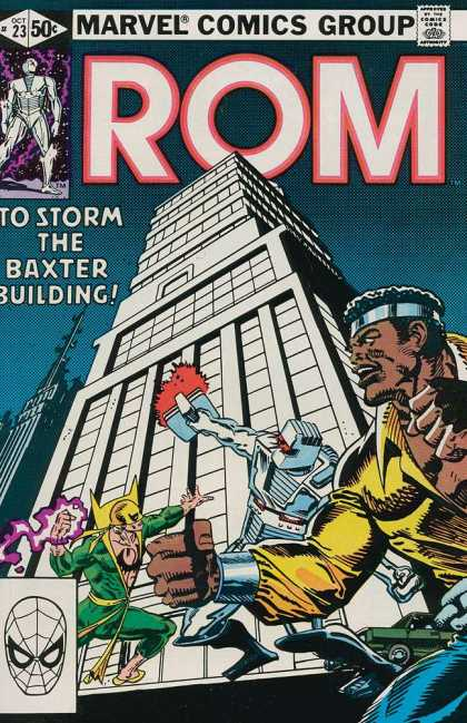 ROM Spaceknight 23 - To Storm The Baxter Building - Marvel Comic Group - Fight - Robot - Oct 23