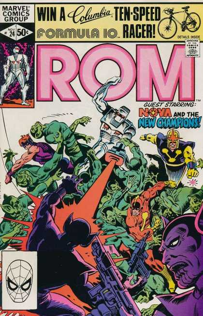 ROM Spaceknight 24 - Nova - New Champions - Purple Creature - Big Battle - Racer