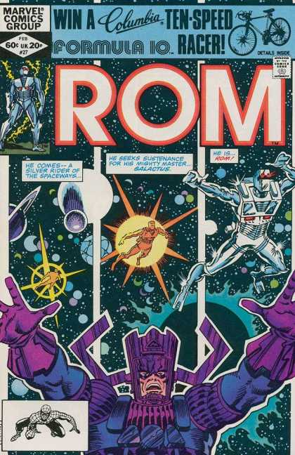 ROM Spaceknight 27 - Marvel Comics Group - Rom - Marvels Rom - Formula 10 - Ten Speed Racer