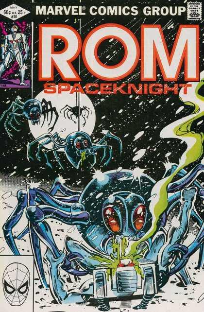 ROM Spaceknight 30 - Marvel Comics - Comics Code Authority - May - Moon - Spiders