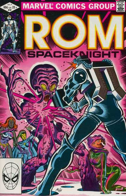 ROM Spaceknight 32 - Marvel - Pink - Alien - Gun - Shoot