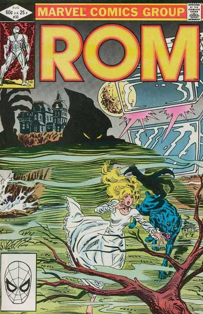 ROM Spaceknight 33 - Marvel - Blonde - Girl - Castle - Full Moon