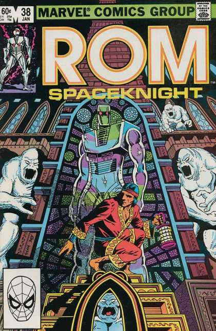 ROM Spaceknight 38 - Monsters - Ghastly - Lantern - White Creatures - Headband