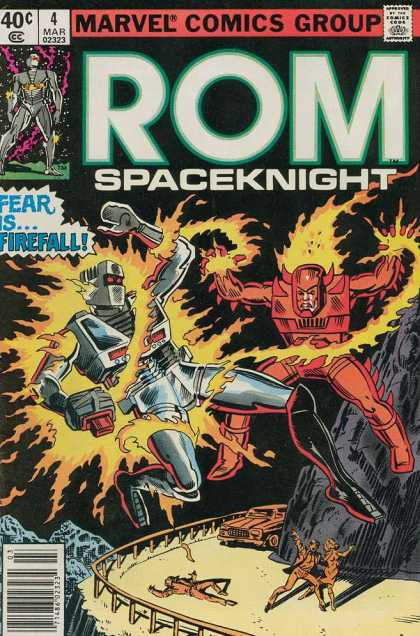 ROM Spaceknight 4 - Marvel - Fear Is Firefall - Mountain Pass - Fighting - Robot
