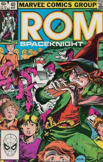 ROM Spaceknight 40 - Kids - Pied Piper - Pan Flute - Pink Dragons - Robot