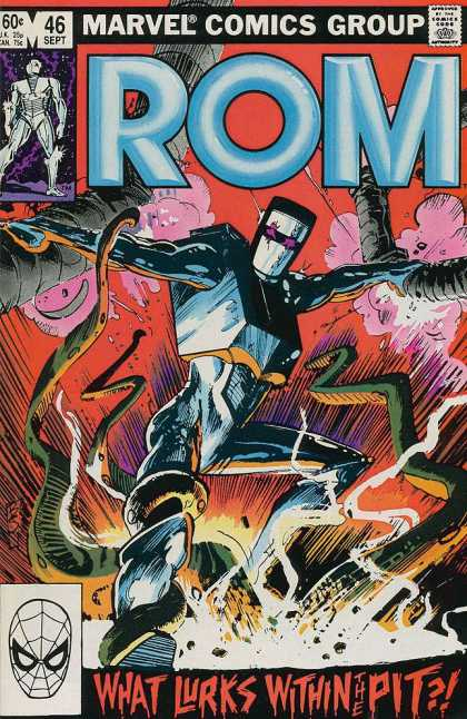 ROM Spaceknight 46 - Robot - What Lurks Within The Pit - Boom - Marvel - Spiderman