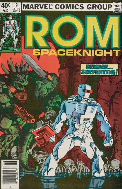 ROM Spaceknight 9 - Marvel - Beware Serpentyne - Skeleton - Sword - Ready For Attack