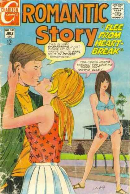 Romantic Story 101 - Flee From The Heart-break - Swimming Pool - Bikini - Youre Joking Darling - This Is Very Embarassing Jane