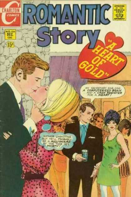 Romantic Story 104 - Charlton - No 304 - Dec Cdc - A Heart Of Gold - 15c