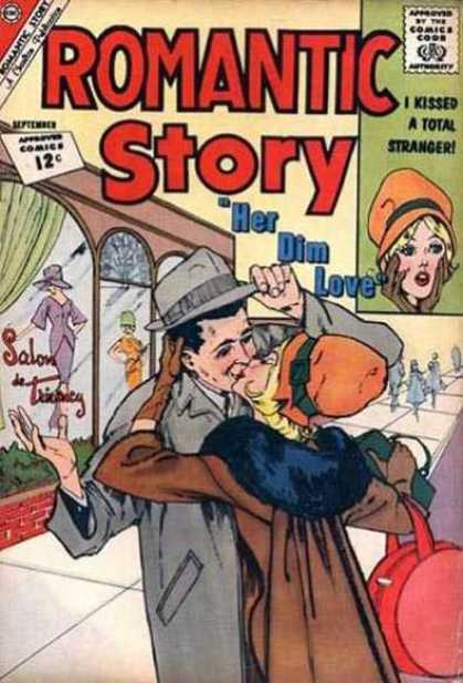 Romantic Story 63 - Her Dim Love - I Kissed A Stranger - Romance - 12 Cents Approved Comics - Comics With Romance