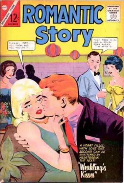 Romantic Story 69 - Kiss - Party - Man - Woman - Plants