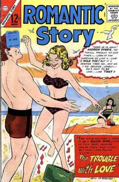 Romantic Story 81 - Beach - Bikini - Blonde - Sea Gulls - Radio