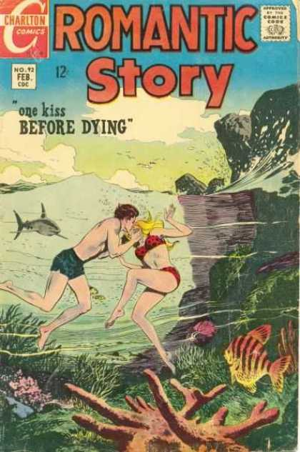 Romantic Story 92 - One Kiss Before Dying - Shark - Coral - Fish - Sea