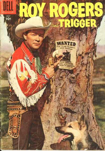 Roy Rogers Comics 103 - July - 10 Cents - Roy Rogers - Trigger - Wanted Poster