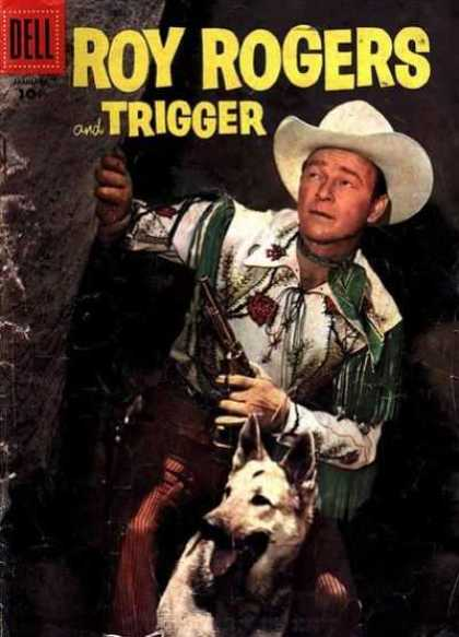 Roy Rogers Comics 109 - Trigger - Dog - White Hat - Six-shooter - Cowboy