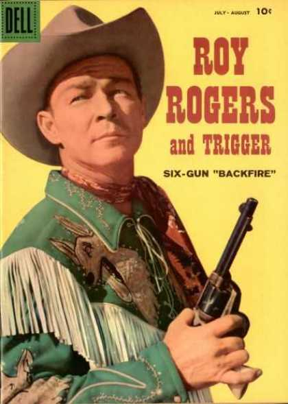 Roy Rogers Comics 126 - Dell - Cowboy - Hat - Gun - Six-gun Backfire