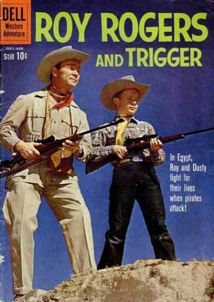 Roy Rogers Comics 138 - In Egypt Roy And Dusty Fight For Their Lives When Pirates Attack - Desert - Guns - Cowboy Hats - Western Adventures