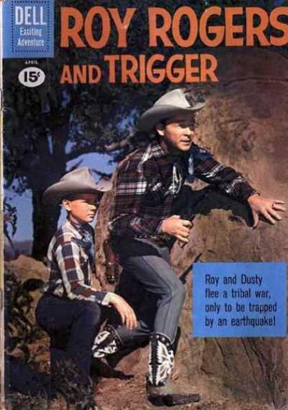 Roy Rogers Comics 142 - Dell - Exciting Adventure - Roy - Dusty - Tree