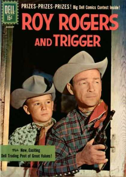 Roy Rogers Comics 144 - Trigger - Cowboys - Hat - Guns - Wild West