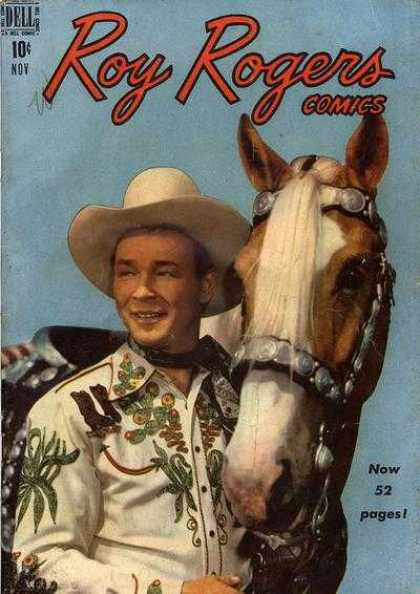 Roy Rogers Comics 23 - Dell - Now 52 Pages - Cowboy - Horse - Man