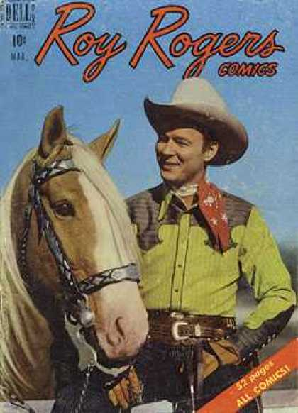 Roy Rogers Comics 27 - Horse - Cowboy - Hat - Red Scarf - 52 Pages