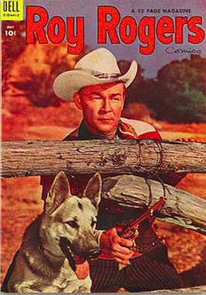 Roy Rogers Comics 79 - Cowboy Hat - Dog - Revolver - Holding A Gun - Behind A Fence