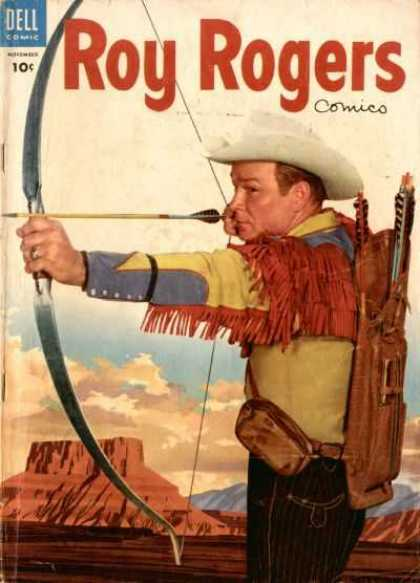 Roy Rogers Comics 83 - Dell - Bow And Arrow - Weapon - November - Cowboy
