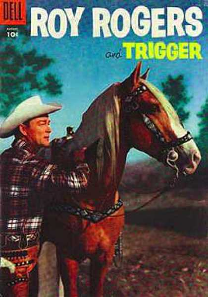 Roy Rogers Comics 92 - Horse - Hat - Trees - Forest - Outdoor