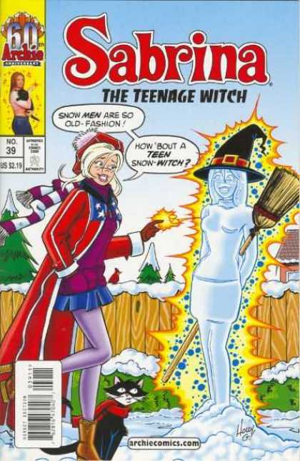 Sabrina 2 39 - Archie - Snow Men - Old-fashion - Teen Snow-witch - Broomstick