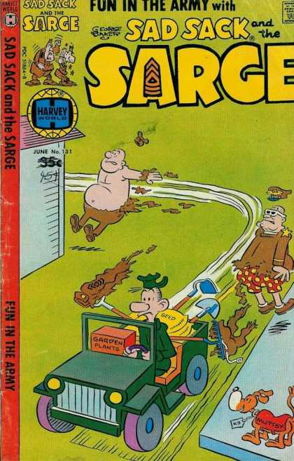 Sad Sack and the Sarge 131 - Army - George Baker - Muttsy - Beatle Bailey Like - Army Jeep
