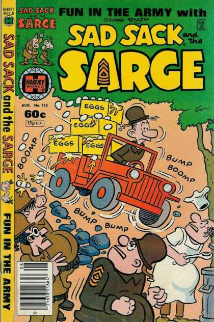 Sad Sack and the Sarge 155 - Jeep - Eggs - Cook - Soldiers - Tree