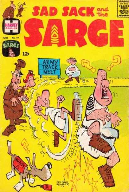 Sad Sack and the Sarge 49 - Army Track Meet - No 49 - June - Comedy - Muttsy