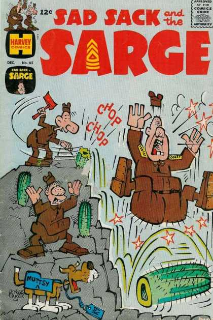Sad Sack and the Sarge 65 - Muttsy - Cactus - Axe - George Baker - Comics Code Authority