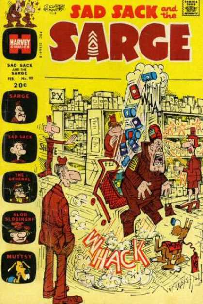 Sad Sack and the Sarge 99 - Harvey Comics - Approved By The Comics Code - Sarge - Shove - The General