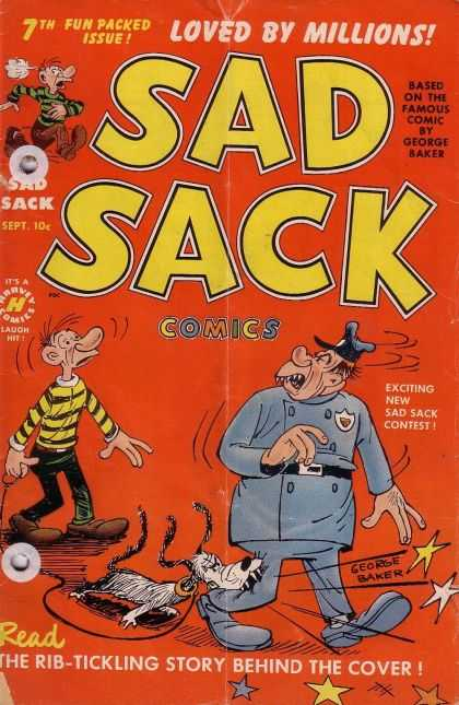 Sad Sack 7 - George Baker - Police Officer - Dog - Dog Leash - Dog Bitting